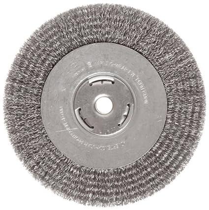 Crimped Wire 6000 rpm Round Hole 0.014 Wire Diameter 5//8-1//2 Arbor 5 Diameter Carbon Steel Weiler Vortec Pro Narrow Face Wire Wheel Brush
