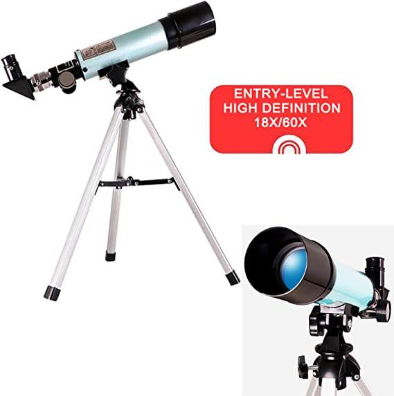 Entry-Level Astronomical Refractor Telescope with Tripod & Finder Scope