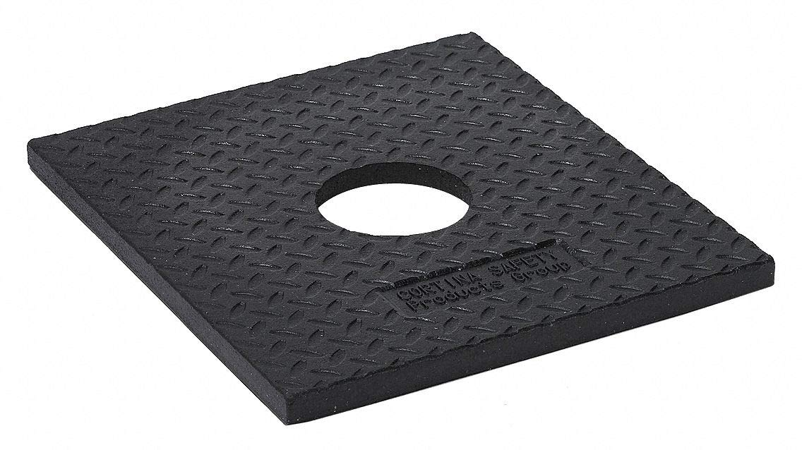 Delineator Base, Black, 15'' x 17'' x 1'', 10 lb, Recycled Rubber