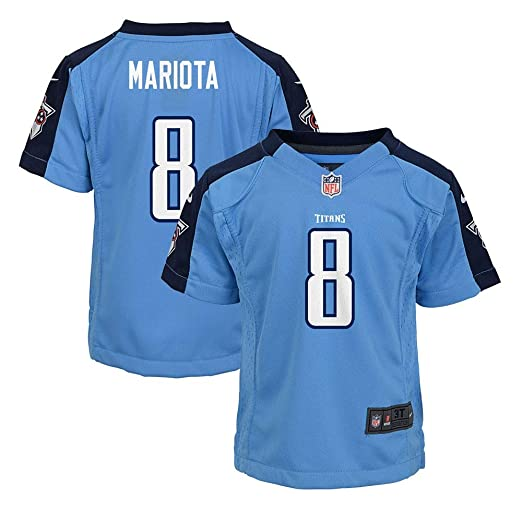 f466d52dc Image Unavailable. Image not available for. Color  NIKE Toddler 3T Marcus  Mariota Tennessee Titans Jersey - Light Blue