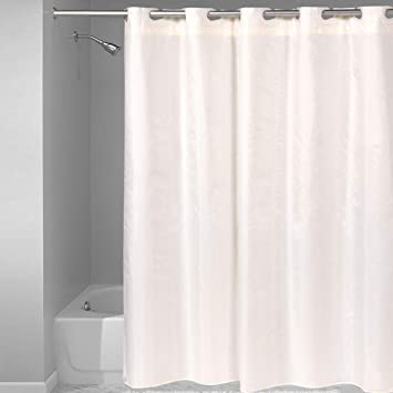 Extra Long Heavy-Duty Vinyl Mildew Resistant Fashionable Sweet Home Collection Shower Curtain Liner 70 x 72 with Top Grade Rust Proof Metal Grommets Standard Evergreen