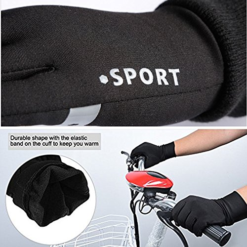 Keepax Winter Warm Gloves Touch Screen Gloves Driving Gloves Cycling Gloves for Men Women (XL)