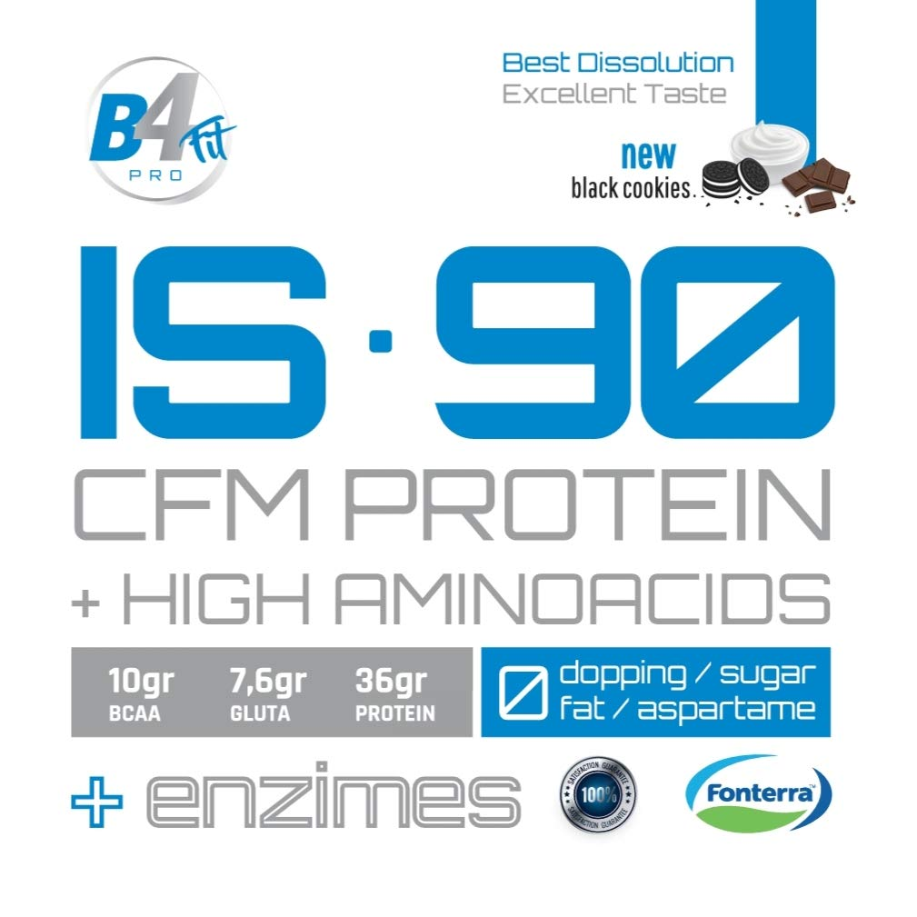 IS-90 CFM PROTEIN 90% 1 kg BLACK COOKIES: Amazon.es: Salud y ...
