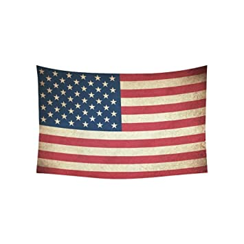 Amazon.com: Custom Vintage Retro American USA Flag Tapestry Wall ...