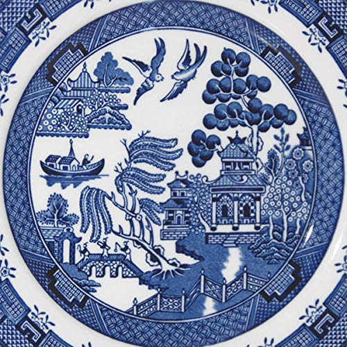 Churchill China Blue Willow Plate 17cm Set of 6