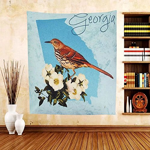 Gzhihine Custom tapestry Manual Woodworkers & Weavers IndoorOutdoor Climaweave Throw Pillow North Carolina Cardinal - North Carolina Prime Outlets
