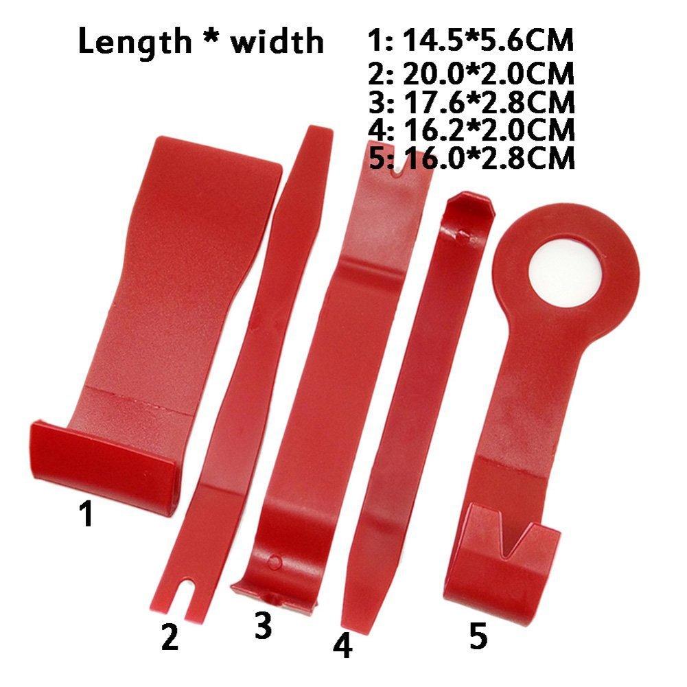 CNIKESIN 7 Pezzi Strumento di Rimozione Kit di Plastica per Smontare l\'audio Veicolo Interno Disassemblaggio del Coperchio Auto Porta Pannello