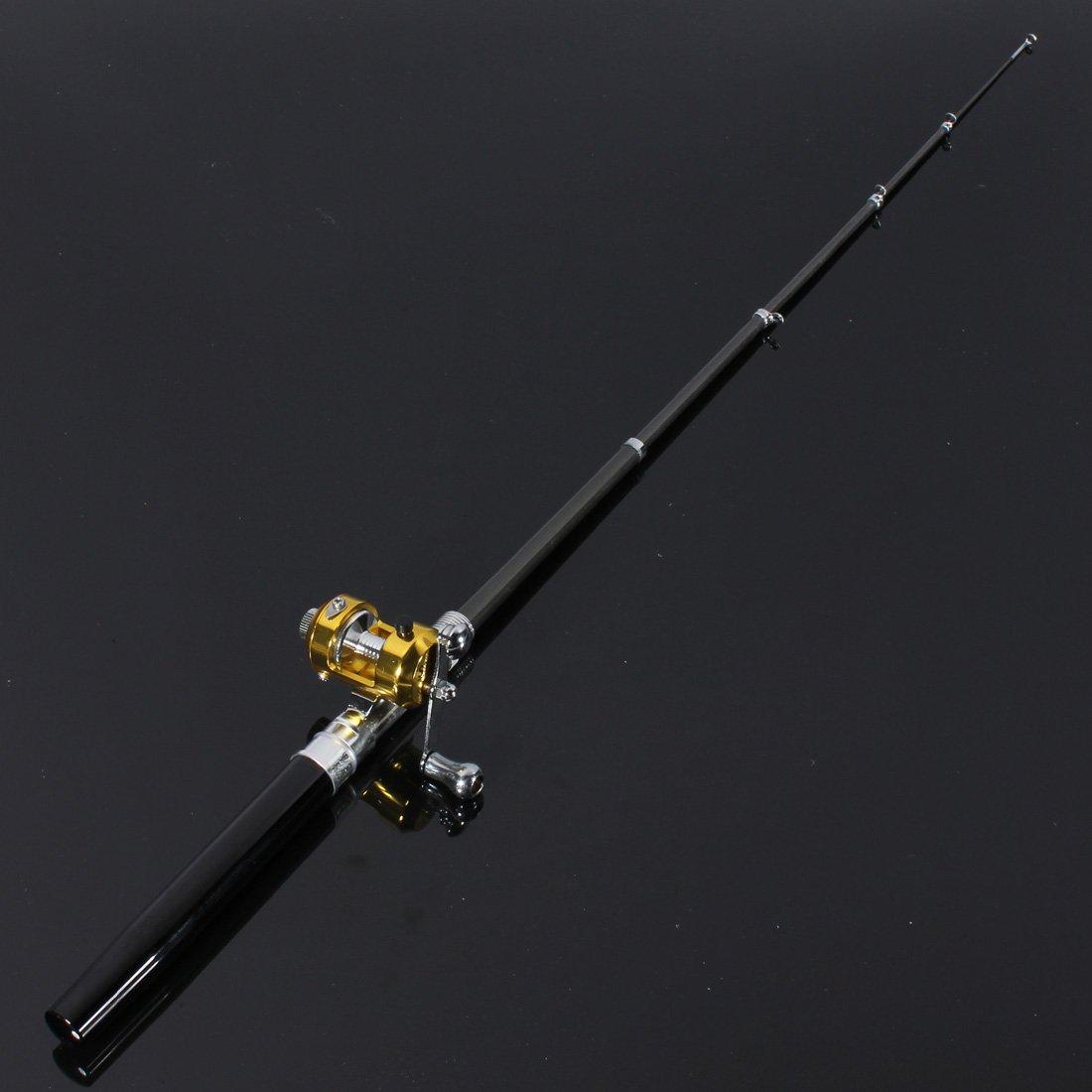aleaci/ón de aluminio, portable Ca/ña de pesca y carrete FamilyMall
