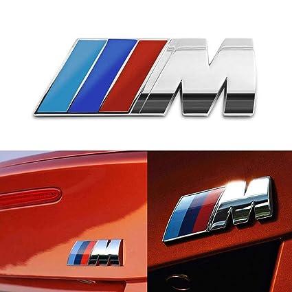 Amazoncom Bmw M Power Badge Tri Color Rear Emblem Car Decal Logo