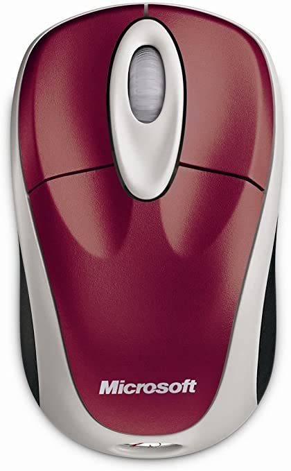 Microsoft Wireless Notebook Optical Mouse 3000 Pomegranate Red