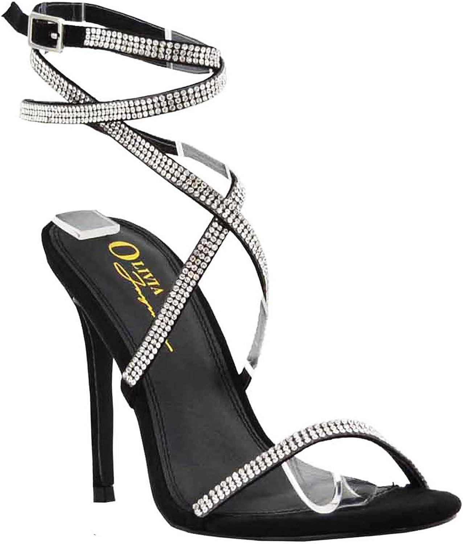 Olivia Jaymes Cali High Heel Wedge Sandal Open Toe New Style Translucent heel Ly