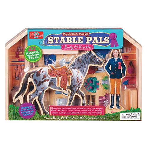 (T.S. Shure Stable Pals Emily and Freckles Wooden Magnetic Dress-Up Set )