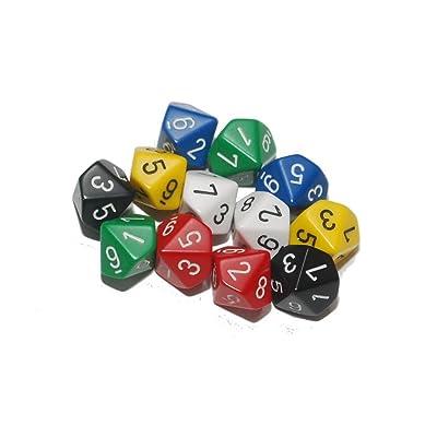 10 lados dados ( paquete de 12): Juguetes y juegos