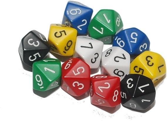10 lados dados (paquete de 12): Amazon.es: Juguetes y juegos
