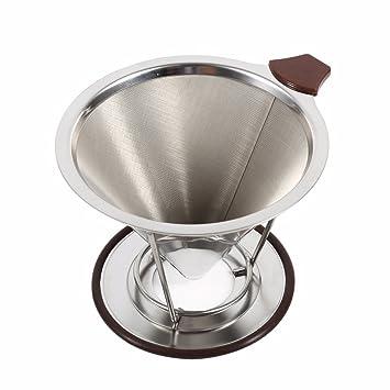 Reutilizable soporte de filtro de café de acero inoxidable ...