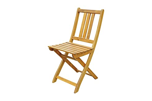 XXS® Akazie Holz Garten Stuhl, FSC® 100% Zertifiziert, Klappstuhl
