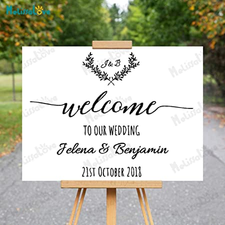 Bienvenido Personalizado a Nuestra Boda Nombre y Fecha ...