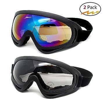 Hommes et femmes lunettes de soleil anti-UV sports outdoor lunettes coupe-vent lunettes de moto pour le ski et l'escalade , Colorful