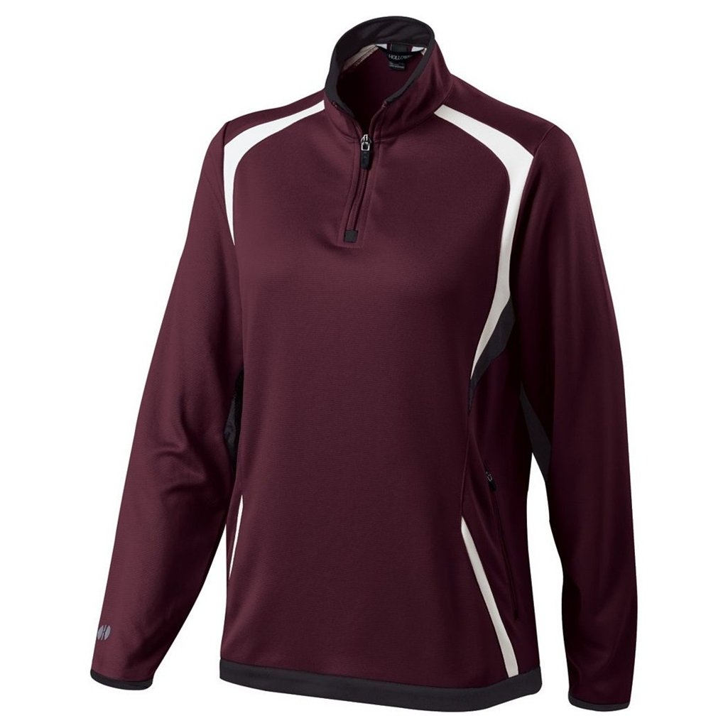 Holloway Ladies Dry Excel Transform Pullover (XX-Large, Maroon/Black/White) by Holloway