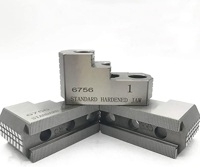 """6-RKT-8300A ALUMINUM ROUND JAWS FOR 8/"""" KITAGAWA CHUCK WITH A 3/"""" HT 3PC SET"""