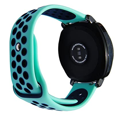 Silicone Sport Strap for S2 Classic SM-R732/SM-R735 for Samsung Gear Sport Vivoactive 3 Ticwatch 2 & Ticwatch E 20mm Wristband (Mint-Blue)
