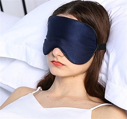 cinoyoni grande 100% Seda de Morera dormir máscara de ojo de máscara y venda,