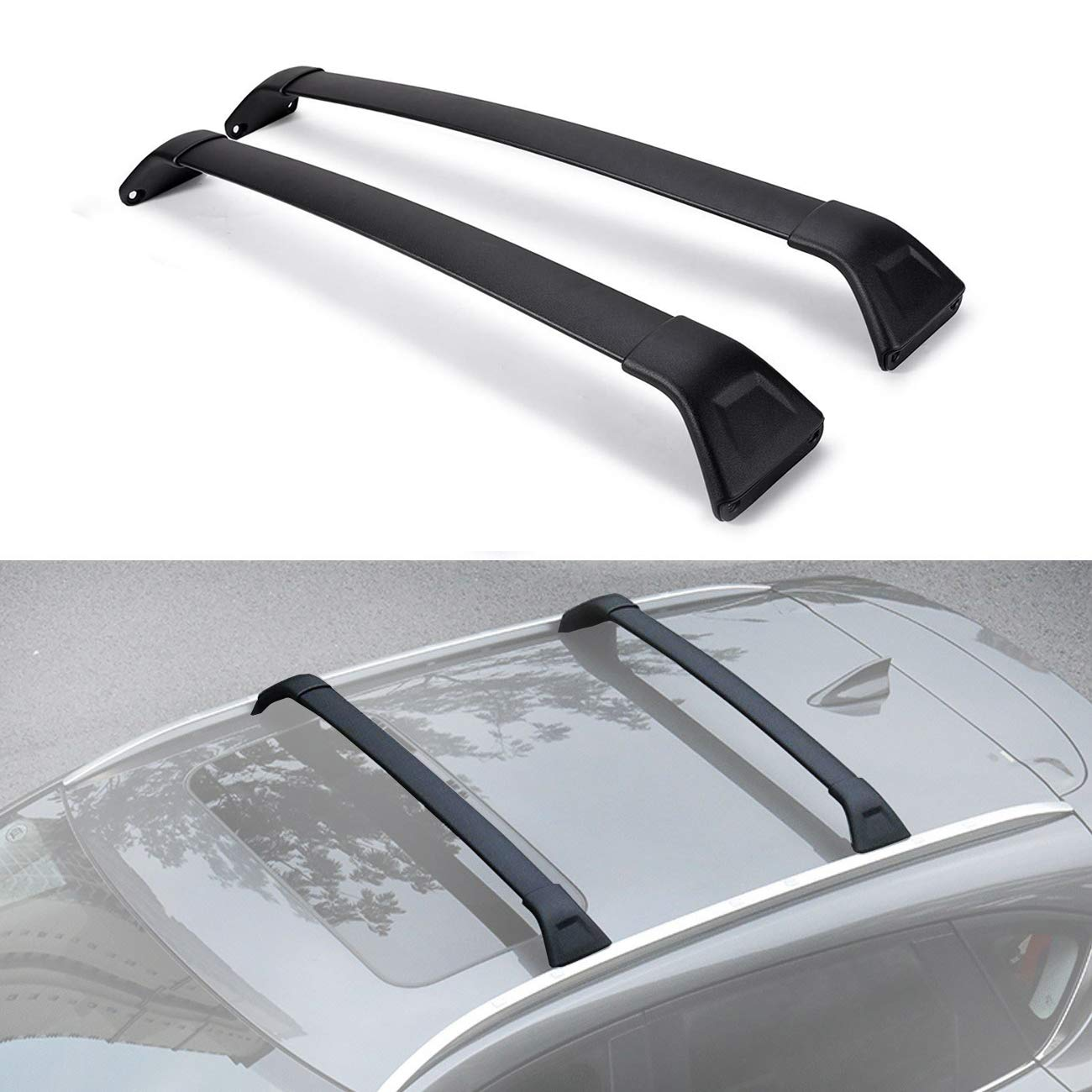 Factory Side Rails Needed ALAVENTE Roof Rack CrossBars for Mazda CX5 2017-2018