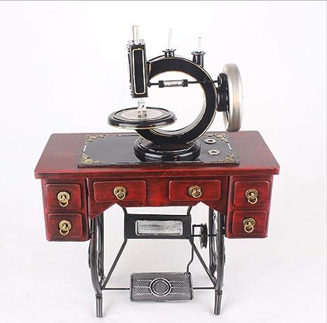 GY Decoración Creativa Retro Vintage Máquina de Coser Modelo de Hierro Forjado Accesorios de fotografía Escaparate