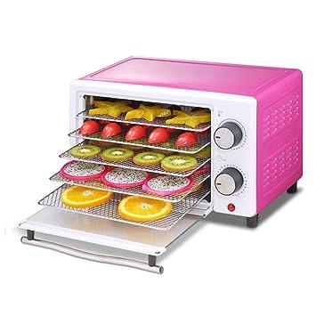 LZEHGJ Deshidratador de Alimentos, Ajuste de Tiempo de Control de Temperatura Secador de Frutas multifunción 5 bandejas para la conservación y el Secado de ...