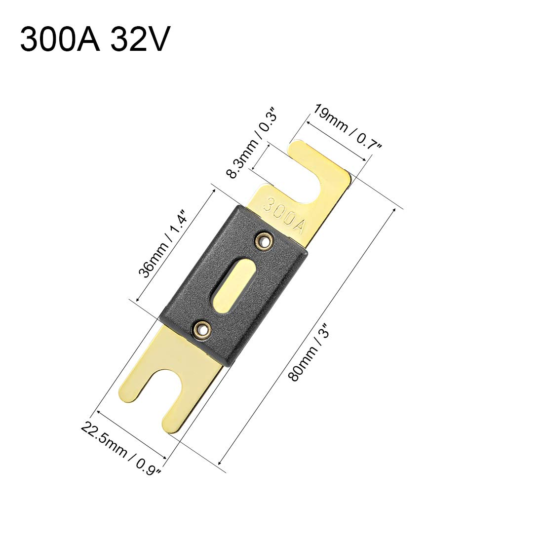 sourcing map ANL Fuse 60 Amp DC 32 Volt for Automotive Car Vehicle Audio Amplifier Inverter Replacement 5pcs