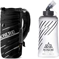 AONIJIE Running Handheld Hydration Pack Sports Bottle Bag with 500ml / 17 oz Foldable Water Bottle for Runner Marathoner
