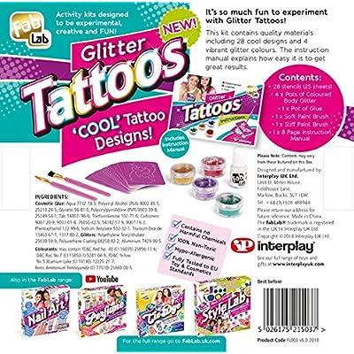 Fab Lab Glitter Tattoos Kit: Toys & Games