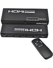 iKKEGOL 5 Port 1 x 5 HDMI Switch Switcher Selector Splitter Hub for HDTV PS3 w/IR Remote