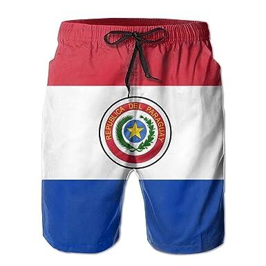 Beach Shorts, Paraguay Flag Beach Coverup Shorts for Men ...