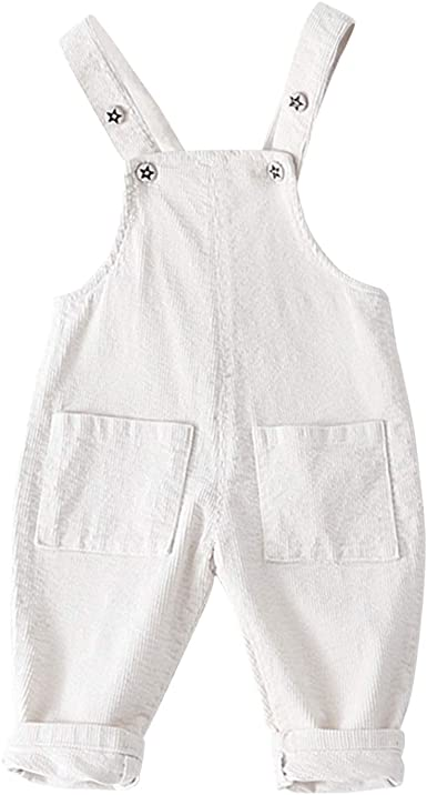 Evelin LEE Baby Boys Girls Denim Suspender Pants Overalls