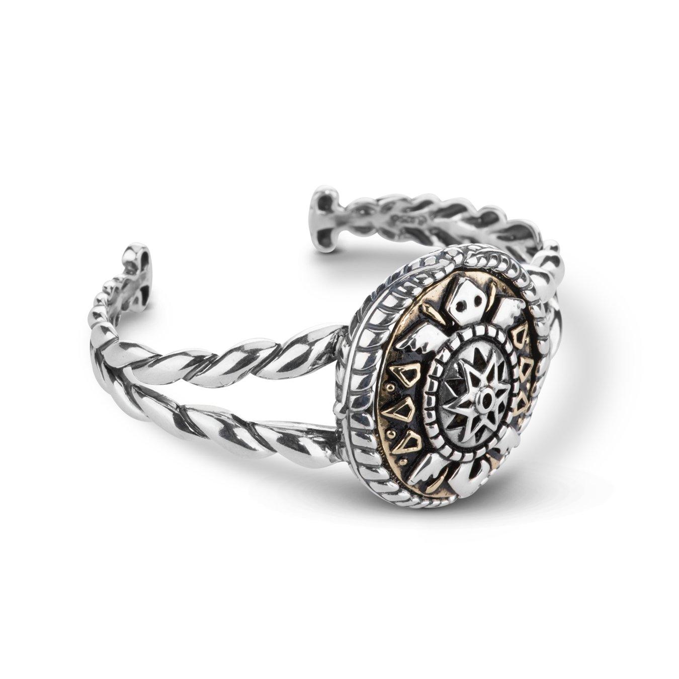 American West Genuine .925 Sterling Silver Brass Interchangeable Cuff Bracelet