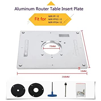 Aluminum router table insert plate for popular router trimmers aluminum router table insert plate for popular router trimmers models engrving machine diy woodworking benches greentooth Images
