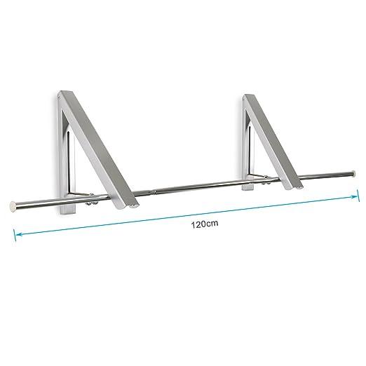 BIGWING Style-Percha Perchero de Pared Plegable Aluminio ...