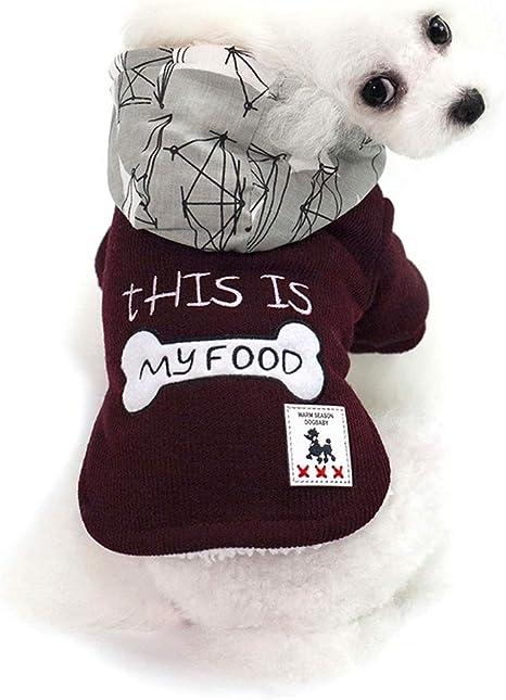 JYMDH Cachorro Perro Mascotas Ropa Sudadera Caliente suéter Camisa Cachorro Invierno Perro Abrigo: Amazon.es: Deportes y aire libre