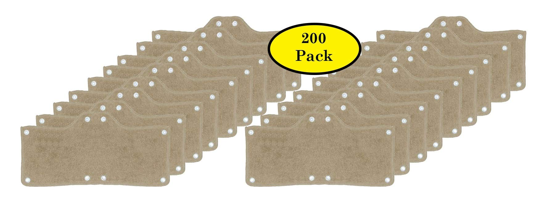 200 Pack Best Hard Hat Sweatband Beige Washable Snap On Sweat Band Liner Safety Accessories