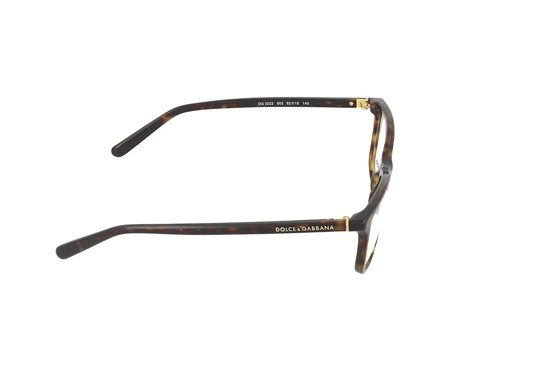 a60cbef739cbd0 Dolce   Gabbana Eyeglasses DG3222 502 Havana 52 15 140  Amazon.ca  Sports    Outdoors