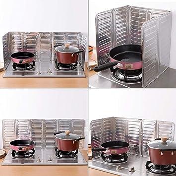 Protector antisalpicaduras para sartenes de cocina de Idea, de alta calidad, antisalpicaduras: Amazon.es: Hogar