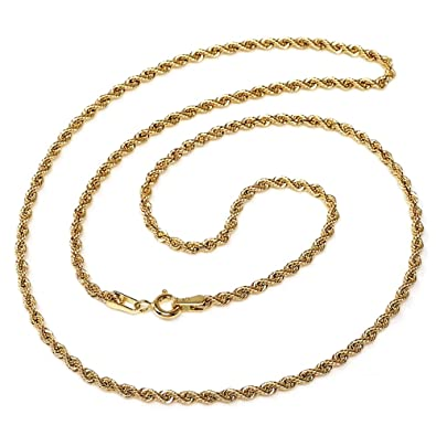 9df7f5e1ab7d Cordón cadena oro 18k salomónico 45cm. normal 3.5mm.  AA1590   Amazon.es   Joyería