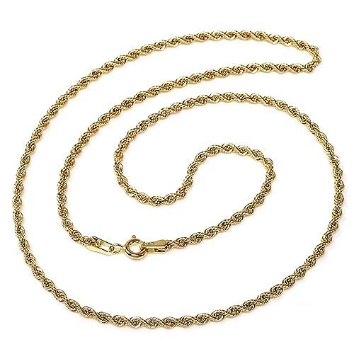 diseñador de moda el más nuevo material seleccionado Cordón cadena oro 18k salomónico 45cm. normal 3.5mm. [AA1590 ...