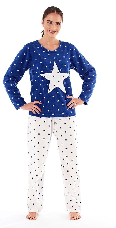 Womens Ladies Brushed Fleece Warm Lounge wear Pyjama Set Bottoms Pjs Pants Top