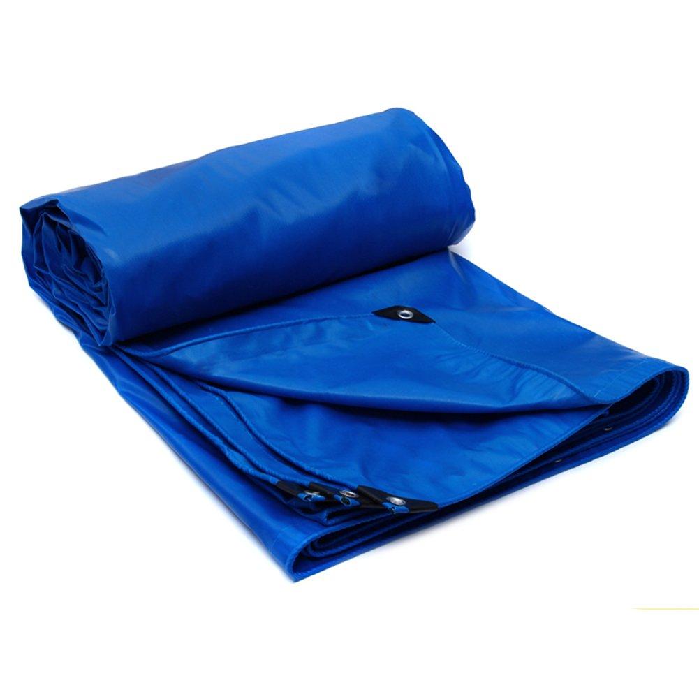 CHAOXIANG オーニング 両面 防水 不凍液 耐高温性 防食剤 老化防止 厚い PVC、 5色、 520g/m 2、 厚さ 0.5mm、 8サイズ 利用可能な、 カスタムサイズ (色 : 青, サイズ さいず : 4x6m) B07D321TLV 4x6m|青 青 4x6m