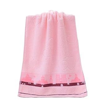 Saniswink - Toalla de Mano para niños, diseño de Dibujos Animados, algodón, Rosa, Talla única: Amazon.es: Hogar