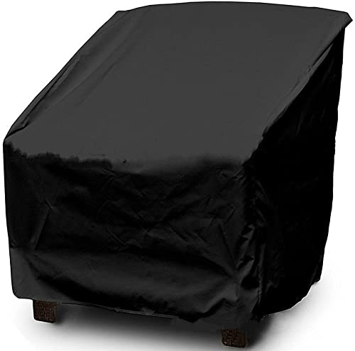 Mitef Outdoor Patio Chair Cover Lounge Chair – Weatherproof and Dust-Proof Furniture Cover, Black