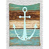 """60"""" x 80"""" Blanket Comfort Warmth Soft Cozy Air conditioning Easy Care Machine Wash Nautical Decor Anchor"""