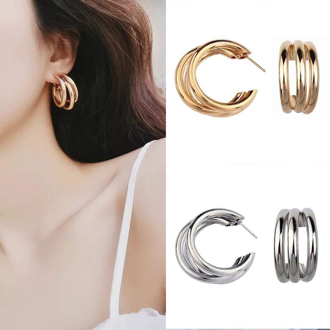 UpBeauty New Women Fashion Earrings Jewelry Trendy Charm Wedding Gift Hoop